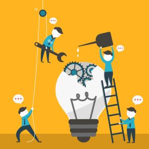 passion, rêve, créativité, équipe de travail. entreprise, action