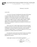Lettre de recommandation CDEC CDNNDG Livre